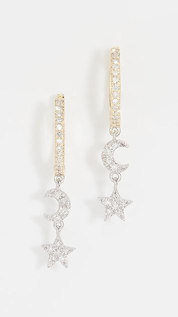 Meira T Moon Earrings