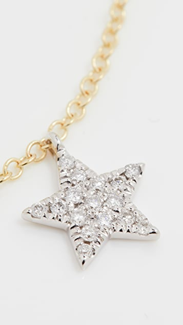 Meira T Crescent Moon Star Necklace