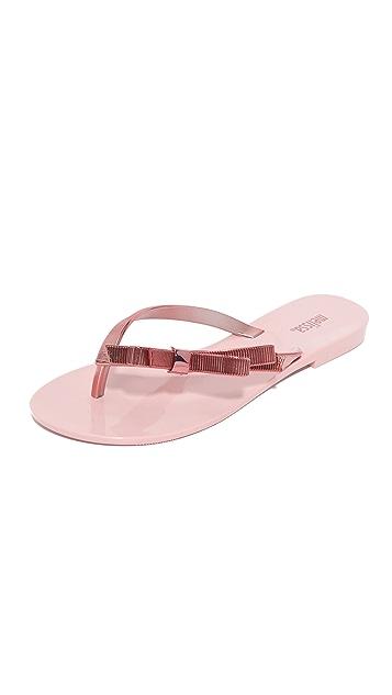 Melissa Harmonic Chrome Flip Flops
