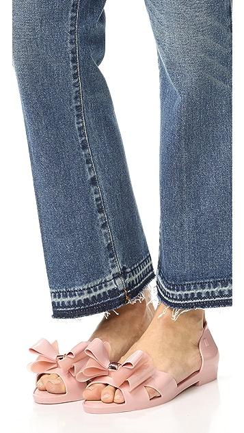 Melissa Seduction Peep Toe Flats