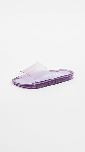 Melissa Beach Slides - Lilac/Summer