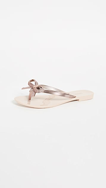 Melissa Harmonic Chrome II Bow Slides - Rose Gold