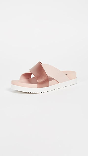 Melissa Cosmic II Crisscross Slides - Pink