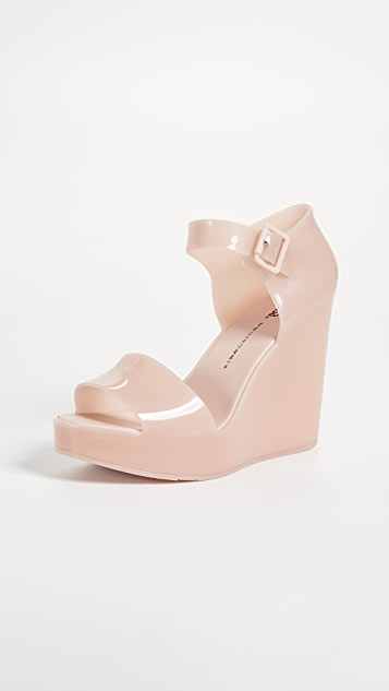 Melissa Mar Wedge Sandals - Light Pink