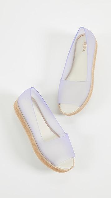 Melissa Puzzle Peep Toe Flats