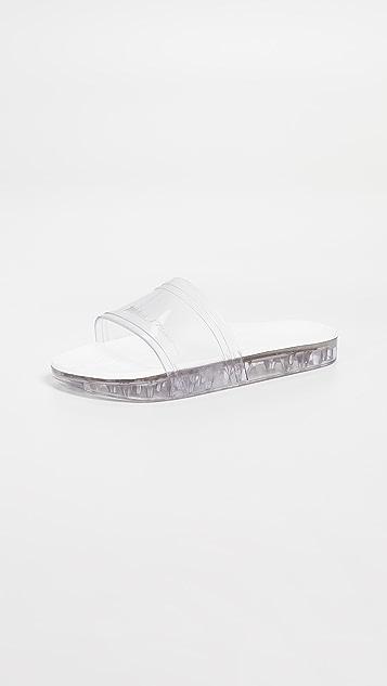 Melissa Slide + Rider Slides - Clear/White
