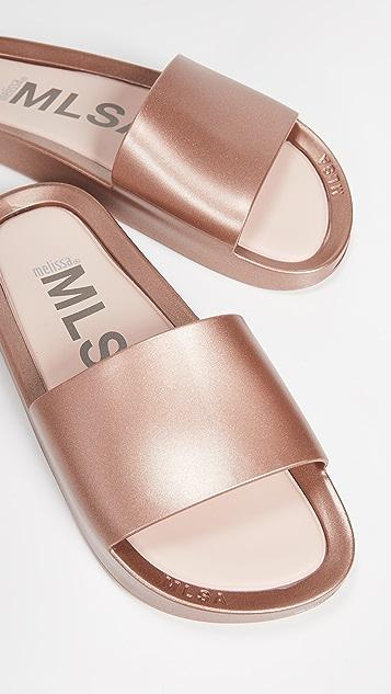 Melissa Beach Shine Slides