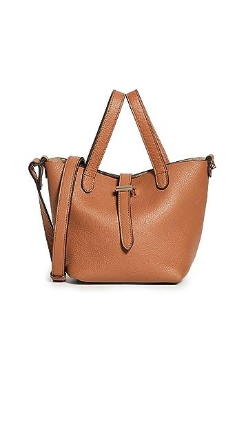 meli melo Миниатюрная объемная сумка-шоппер с короткими ручками Thela