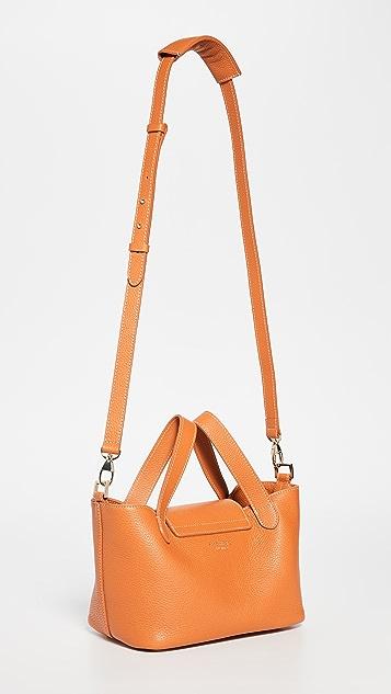 meli melo Миниатюрная объемная сумка с короткими ручками Thela