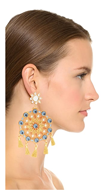 Mercedes Salazar Artes Fiesta Clip On Earrings