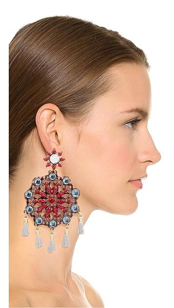Mercedes Salazar Artes Fiesta Clip On Earrings