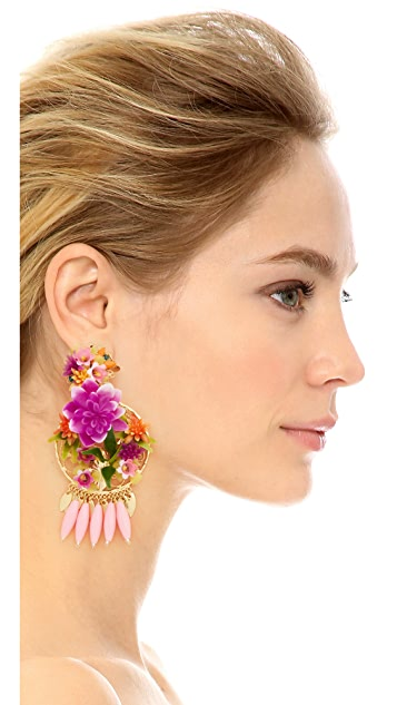 Mercedes Salazar Rosita Mora Clip On Earrings