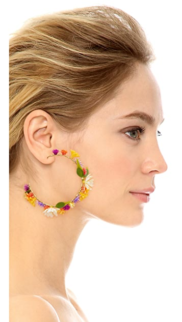 Mercedes Salazar Flor Mora Earrings