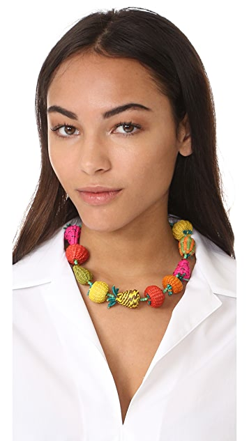 Mercedes Salazar Fruits and Beads Necklace