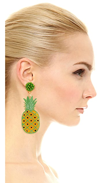 Mercedes Salazar Pina Clip On Earrings