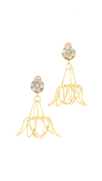 Mercedes Salazar Florecina Clip On Earrings