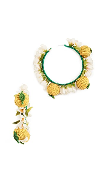 Mercedes Salazar Lemon Hoop Earrings