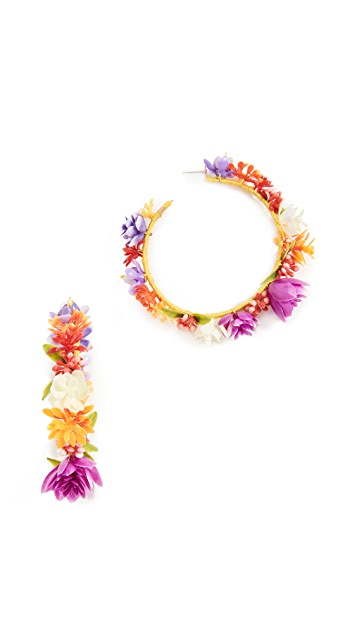 Mercedes Salazar Rainbow Days Hoop Earrings