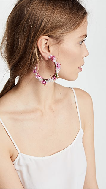 Mercedes Salazar Enchanted Lilies Hoop Earrings