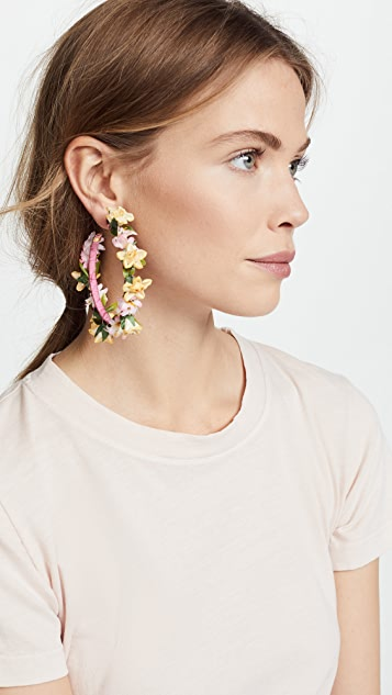 Mercedes Salazar Summer Lilies Hoop Earrings