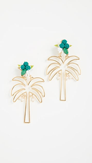 Mercedes Salazar Palma Dorada Earrings