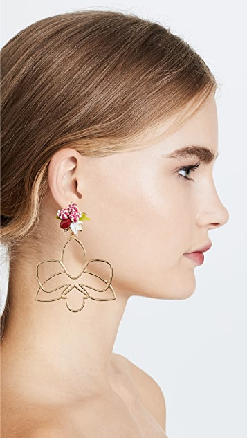 Mercedes Salazar Cattleya Dorada Earrings