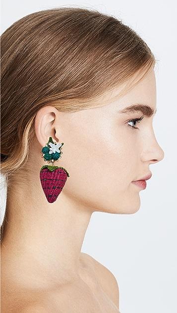 Mercedes Salazar Fresa Silvestre Earrings