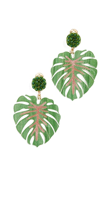 Mercedes Salazar Mano de Tigre Verde Earrings