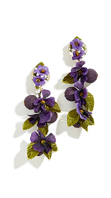 Mercedes Salazar Fiesta Flowers Clip-On Earrings