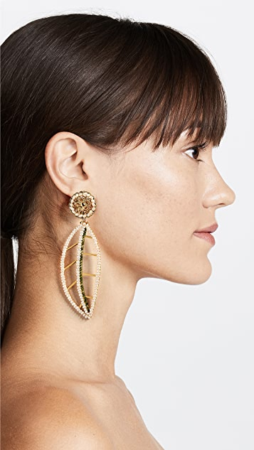 Mercedes Salazar Hoja Blanca del Páramo Clip-On Earrings