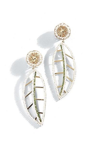 Mercedes Salazar Hoja Blanca del Páramo Clip-On Earrings