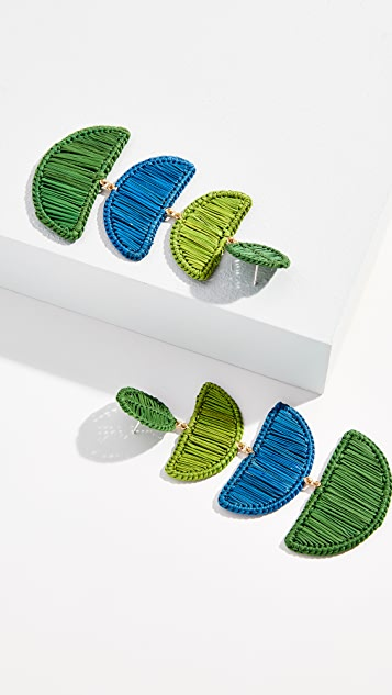 Mercedes Salazar Móvil Azul y Verde Earrings
