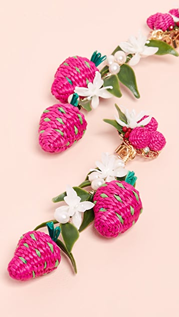 Mercedes Salazar Tropics Strawberry Earrings