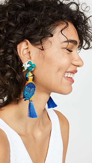 Mercedes Salazar Tropical Bird Earrings
