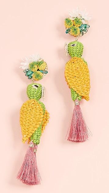 Mercedes Salazar Tropical Bird Earrings