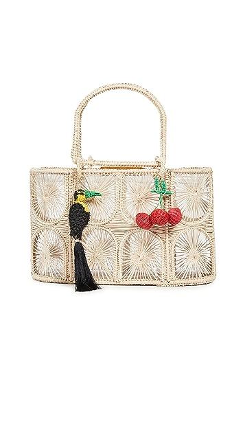 Mercedes Salazar Плетеная объемная сумка с короткими ручками