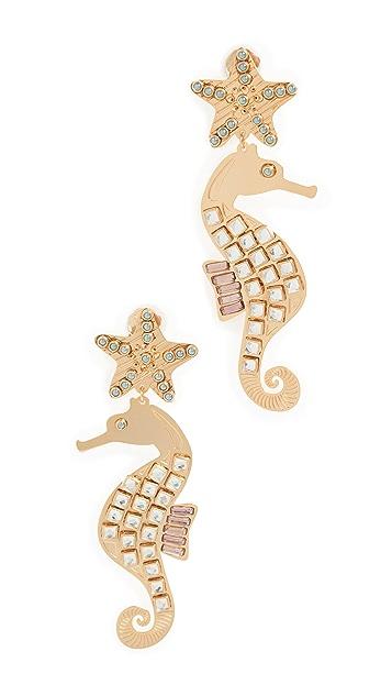Mercedes Salazar Seahorse Earrings