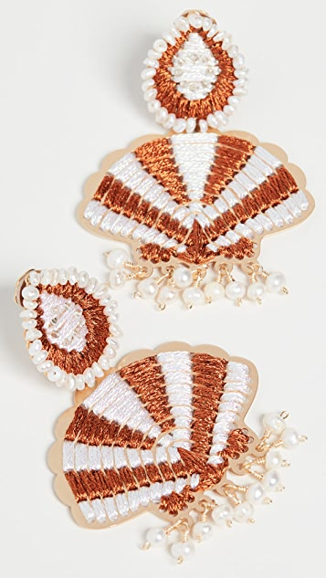Mercedes Salazar 贝壳耳环