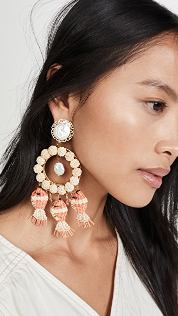 Mercedes Salazar Round Pearl Earrings