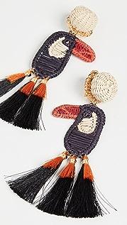 Mercedes Salazar 犀鸟耳环