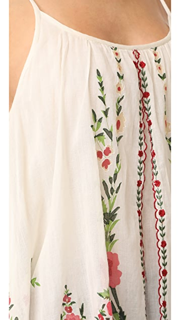 Mes Demoiselles Josephine Floral Embroidered Tank
