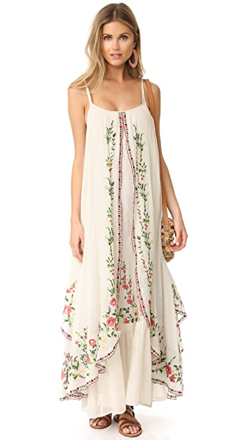 Mes Demoiselles Josephine Flora Embroidered Dress