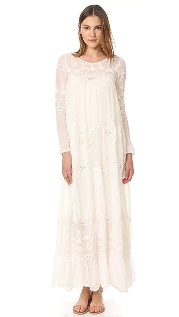 Mes Demoiselles Vaudeville Embroidered Dress