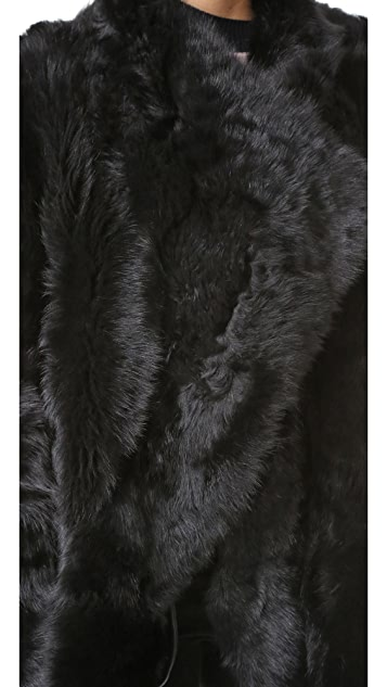 YVES SALOMON - METEO Reversible Long Shearling Jacket