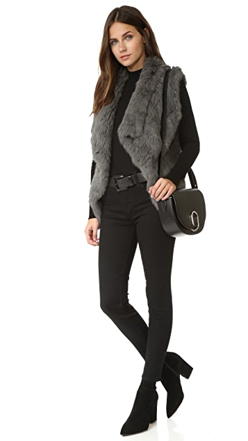 YVES SALOMON - METEO Rabbit Fur Vest