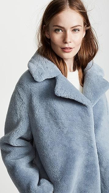 YVES SALOMON - METEO Fleece Coat