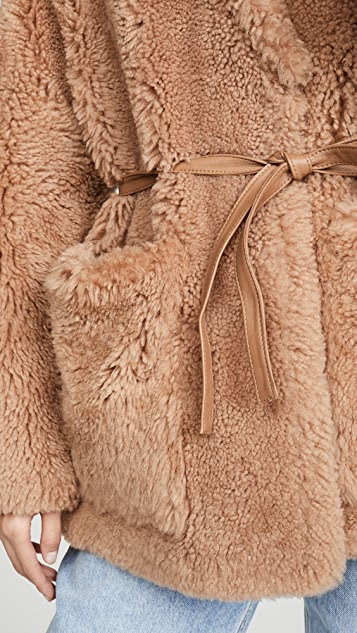 YVES SALOMON - METEO Teddy Shearling Jacket