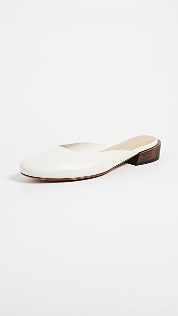 Mari Giudicelli Leblon Flat Mules - Off White