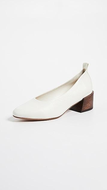 Mari Giudicelli Pina Ballerina Heels - Off White