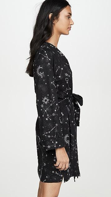 каменно-серый Классический короткий халат What's Your Sign